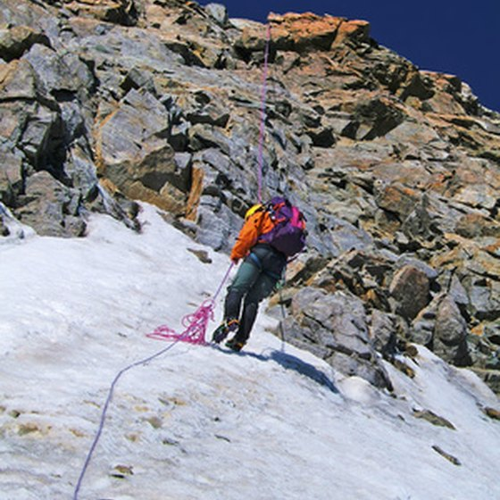 Rappelling is a faster descent method than downclimbing on technical terrain.