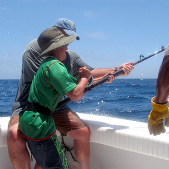 Fishing in Baja California may be enjoyed by all age groups.