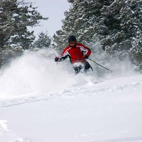 Boyne Falls attracts skiers from all over the Midwest.