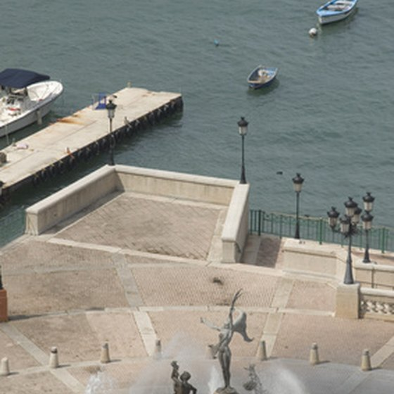 Old San Juan features plazas, forts, parks and colonial buildings.