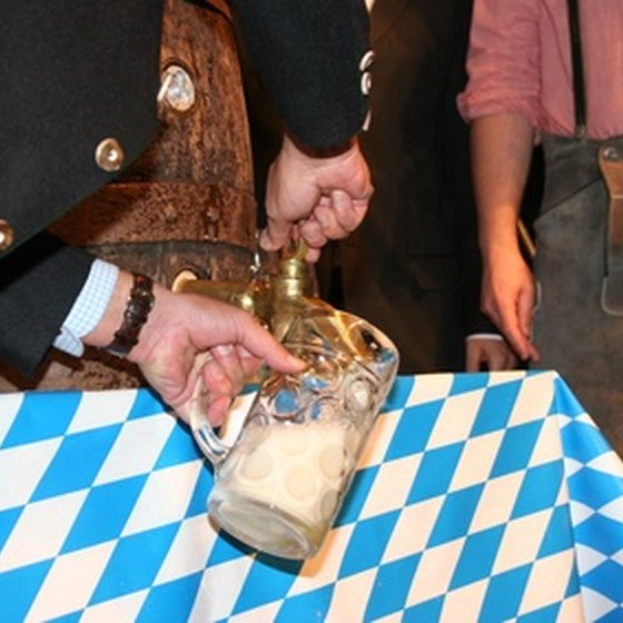 Enjoy a traditional Bavarian beer at the Alpine Helen Georgia themed park.