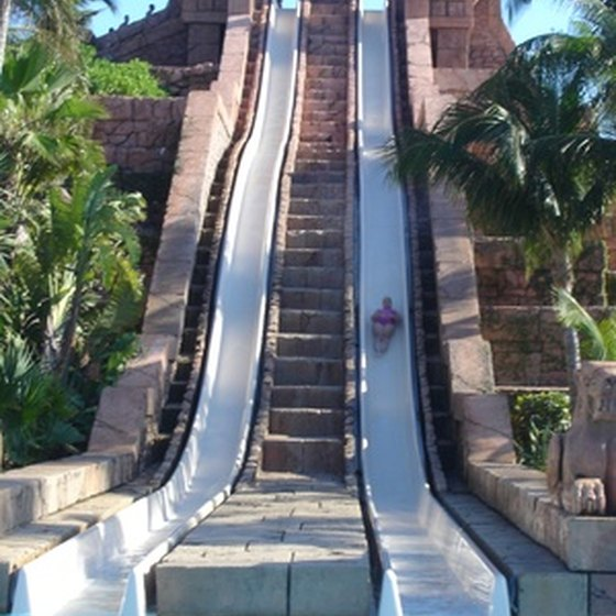 Water slides provide respite from the East Texas heat.
