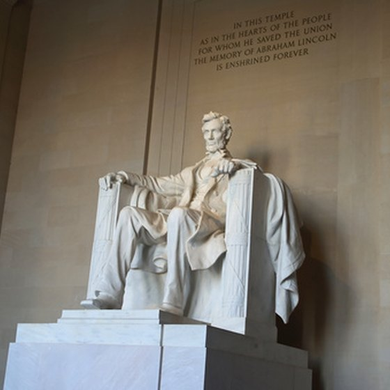 The ever-popular Lincoln Memorial in Washington, D.C.