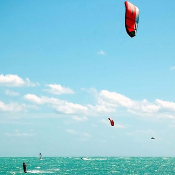Kitesurfing is poplar in Colombia.