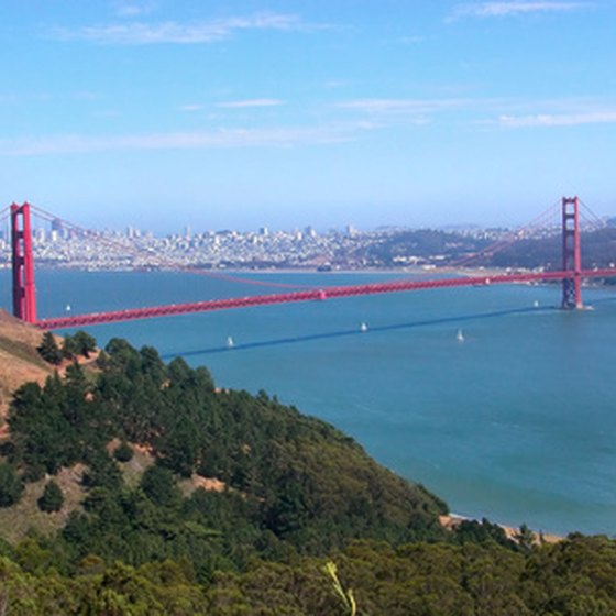 The Golden Gate Bridge welcomes visitors to San Francisco's Bay Area.