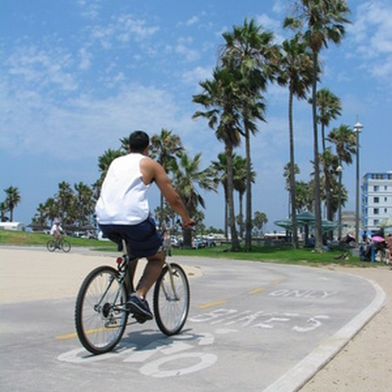 Venice Beach provides swimming and cycling.