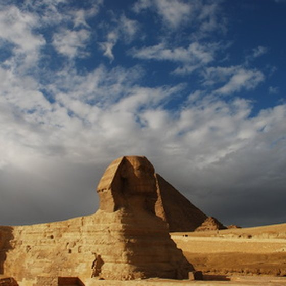 The Sphynx at Giza is a hightlight of an Egyptian vacation.