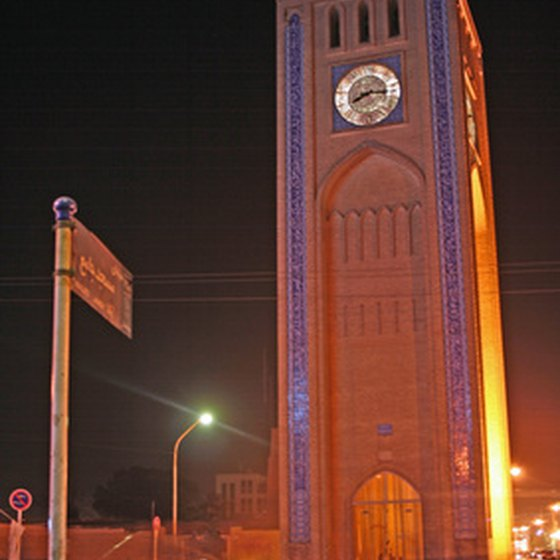 Clock tower in Yazd.