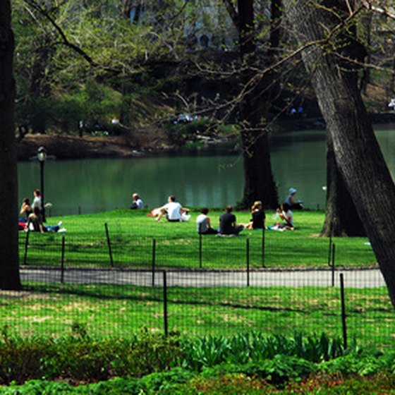 Central Park, opened in 1859, sits in the heart of Manhattan.
