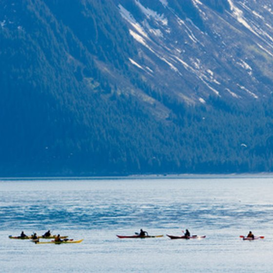 Kayaking in Alaska.