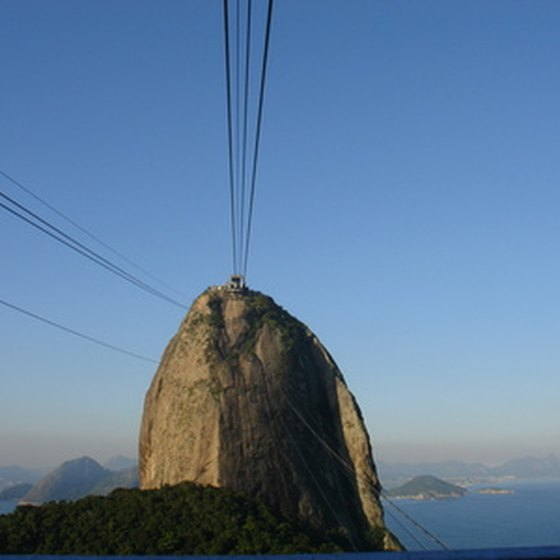 Take a cable car trip to the top of Sugarloaf Mountain.