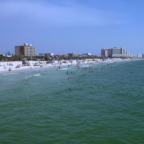 Clearwater has numerous family-friendly hotels located on the beach.