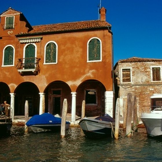 Murano island in the Venetian Lagoon is famous for glassblowing