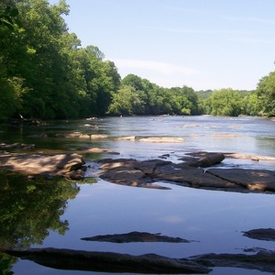 The Chattahoochee River runs through the Chattahoochee National Forest, a prime camping spot.