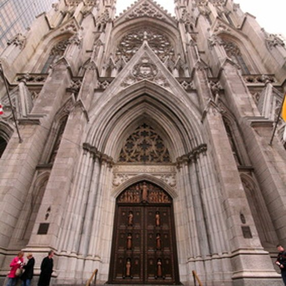 The New York Palace hotel is just steps from St. Patrick's Cathedral.