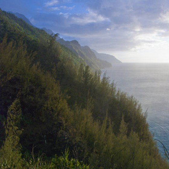 Mountains rising up out of the sea are one of many natural wonders of the Hawaiian Islands.