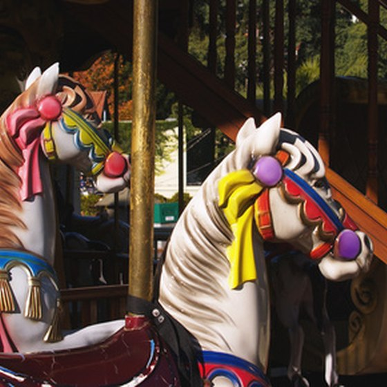 The carousel at Blackbeard's is just one of many activities for kids in Fresno.