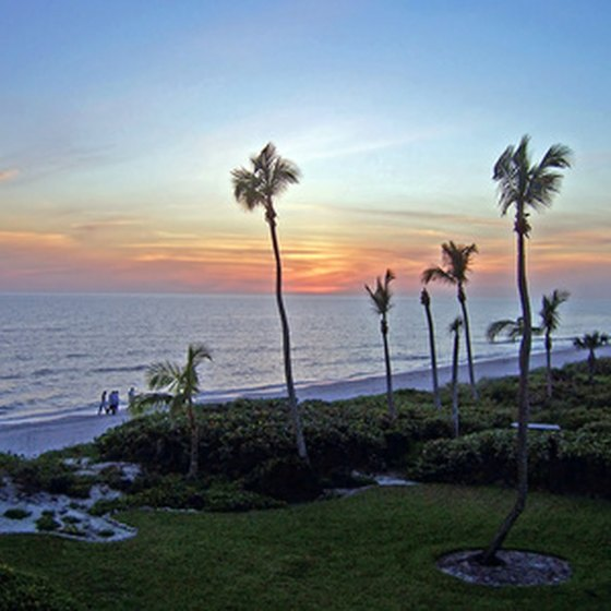 Florida resorts offer scenic views of the Gulf of Mexico.