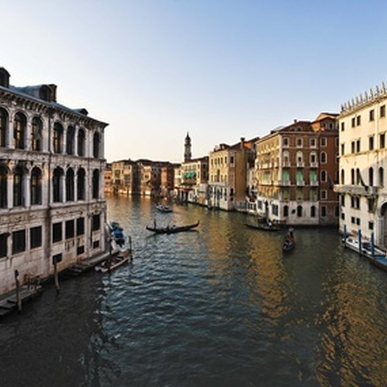 The canals of Venice are one of Italy's most popular tourist attractions.