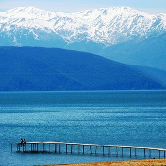 Lake Prespa, Macedonia, in Northern Greece.