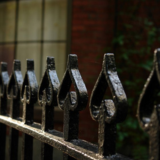 You can see ornate wrought-iron gates and fences throughout Savannah.