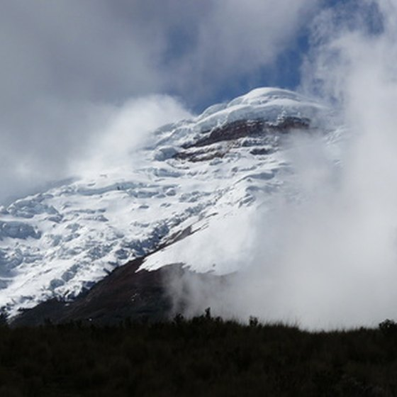 The snowy peak of Cotopaxi
