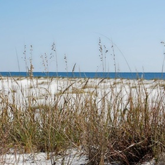 Some hotels in Orange Beach, Alabama have private beaches, just steps from the building.