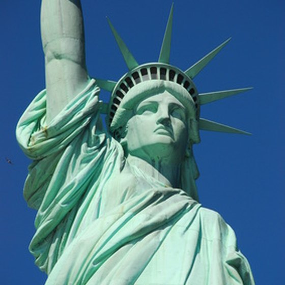 The Statue of Liberty is a New York landmark.