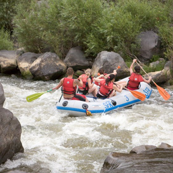 Rafting trips are a popular pastime of visitors to the Red River area.