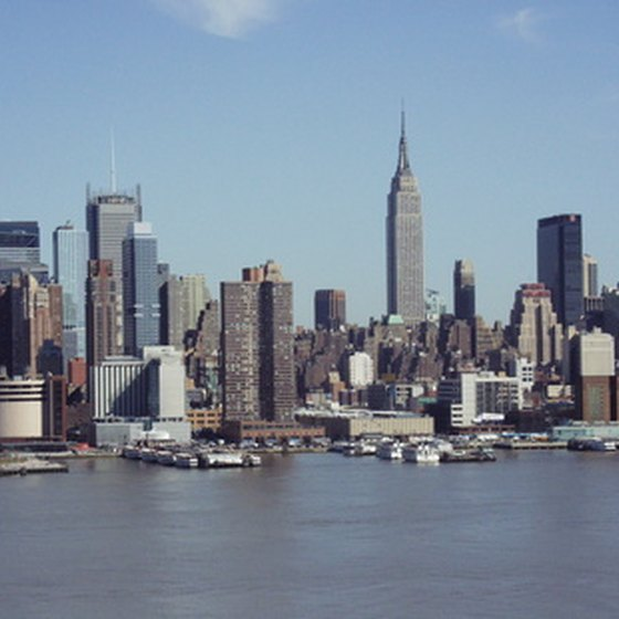 The skyline of Manhattan island