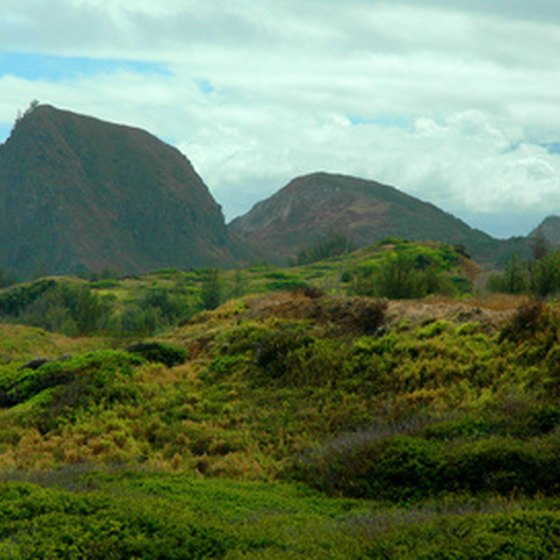 The mountainous Haleakala National Park is part of Maui.