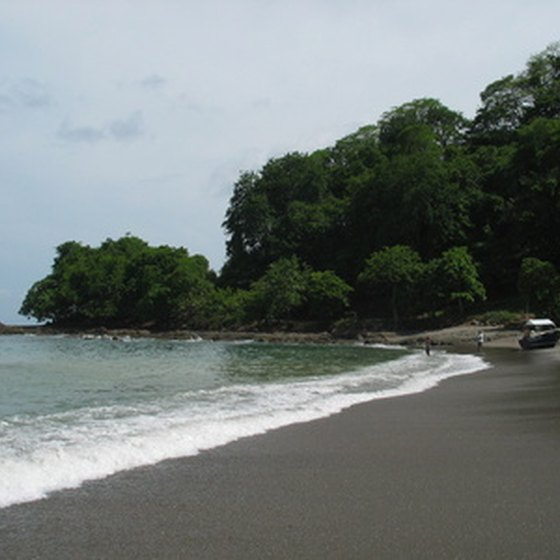 Costa Rica features miles of secluded beaches.
