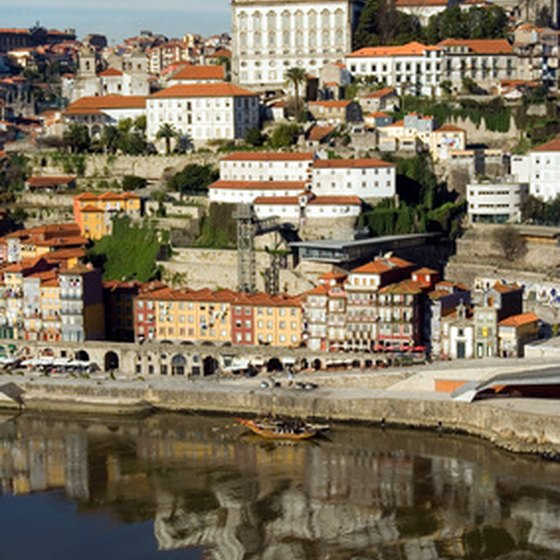 Houses in Porto overlooking the Douro River