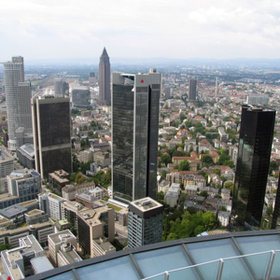 Frankfurt, Germany, is famous for its skyscraper-strewn skyline.