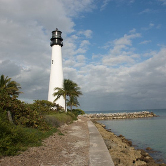 The Cape Florida Lighthouse is a fixture on Key Biscayne tours.