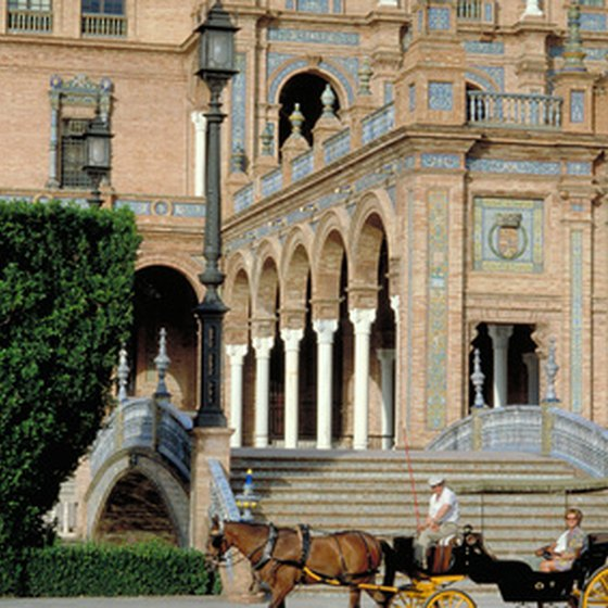 Tours take visitors to the most popular attractions in Seville, Spain.