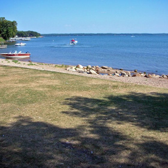 When taking an RV vacation in Duluth, you can enjoy water activities on Lake Superior.