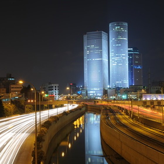 Tel Aviv is known for its lively night life.