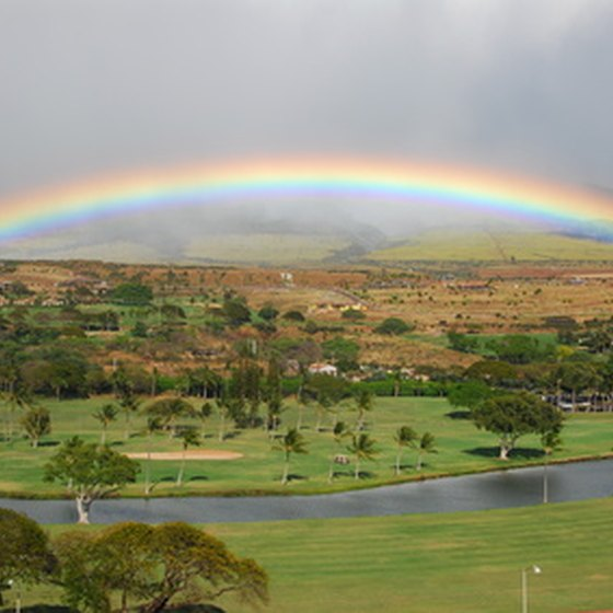 A typical day on Maui starts with a rainbow.