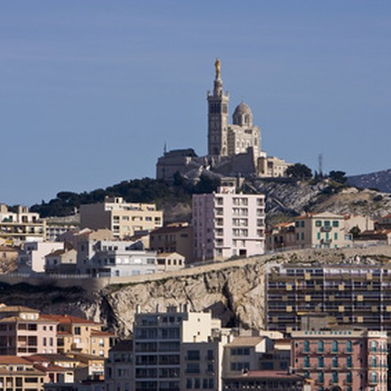 Marseille's landscape is dominated by Notre Dame de la Garde.