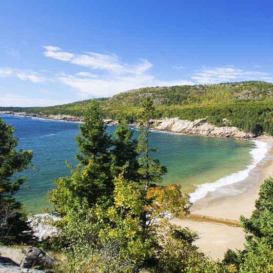 Honeymooners can enjoy iconic Maine scenery at Acadia National Park near Bar Harbor.