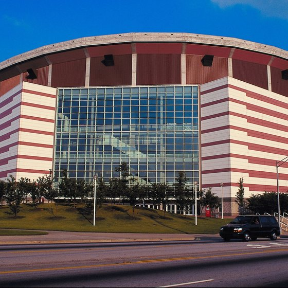 The Georgia Dome is just a short walk from the Georgia Aquarium.