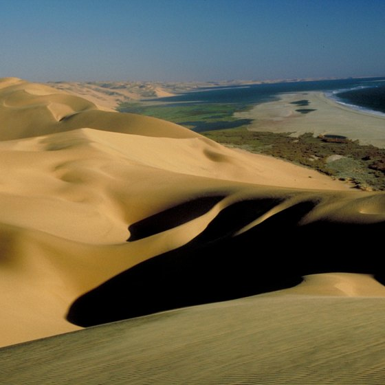 Dunes along Namibia's Atlantic coast.