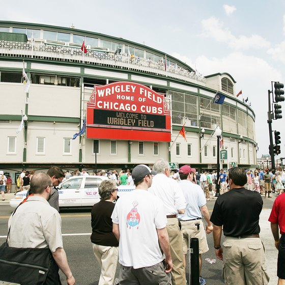 Wrigley Field lends its name to the neighborhood of Wrigleyville, Chicago.