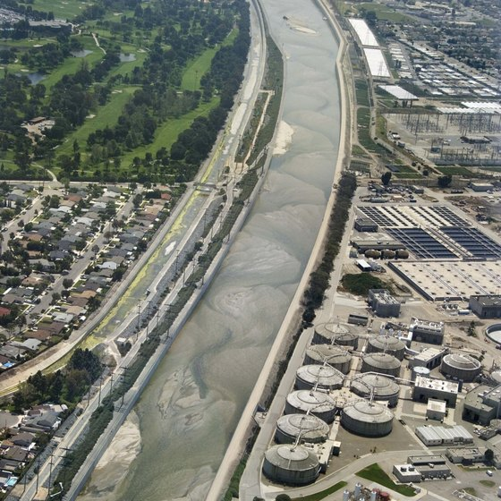 The Santa Ana River is a large system that flows near the city of Riverside.