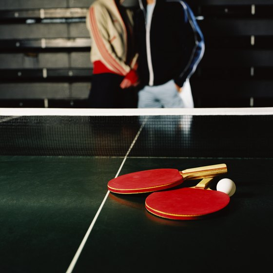 Table tennis is played in several Houston sports bars.