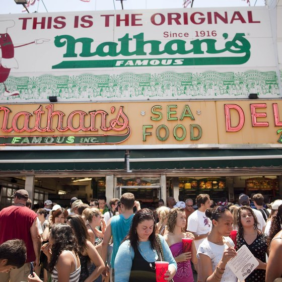 Nathan's holds an annual hot-dog eating contest.