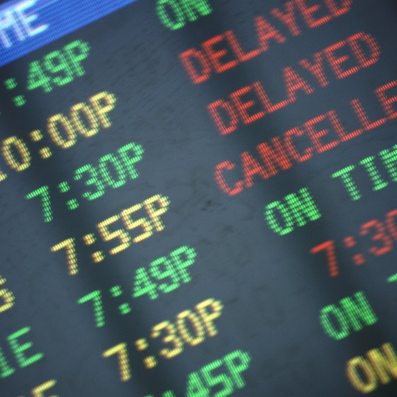 Stay calm when dealing with a canceled flight.