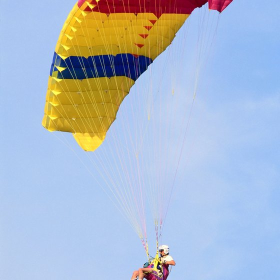 "Parasailing in Gulf Shores gives a new meaning to ""beach view."""