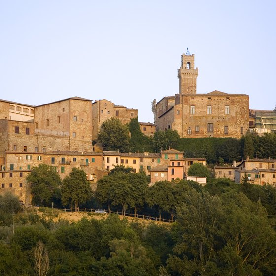 Traveling in a tour bus makes it easy to visit mountain towns like Montepulciano that are off the train route.